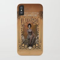 mucha iPhone & iPod Cases featuring The Amazing Tattooed Lady by Rudy Faber