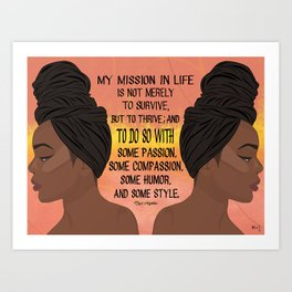 Serving, Ms. Angelou Art Print
