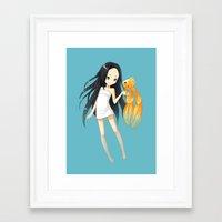 goldfish Framed Art Prints featuring Goldfish by Freeminds