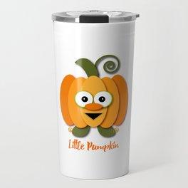 Halloween Little Orange Pumpkin Travel Mug
