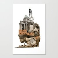 budapest Canvas Prints featuring Budapest by Alex Eckman-Lawn