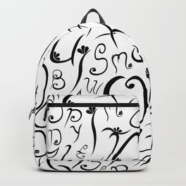 Elvish-Inspired Type Design Backpack