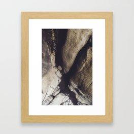 beach rocks Framed Art Print