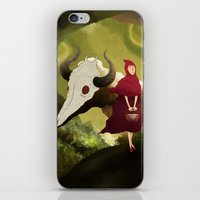 red hood iPhone & iPod Skins featuring red hood by R,oh