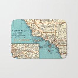 So Cal Surf Map Bath Mat