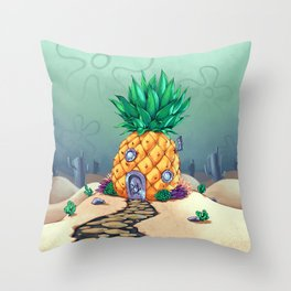 The Dwelling of the Sponge Throw Pillow