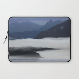 Misty Alaskan Fjord Laptop Sleeve