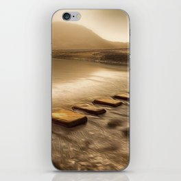Stepping stones with oil painting effect iPhone Skin
