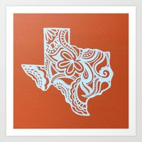 texas Art Prints featuring Texas by bkraftydesigns