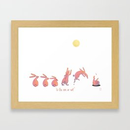 to the sun or not Framed Art Print
