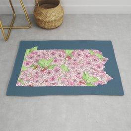 Pennsylvania in Flowers Rug