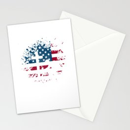 Stand For The Flag, Kneel For The Cross Patriotic Stationery Cards