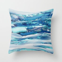 Ice Field Throw Pillow