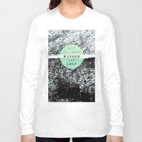 wander Long Sleeve T-shirts featuring Wander by Rachel Kim Freelance Design