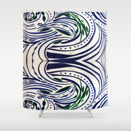 Water Flowing Plant Shower Curtain