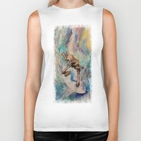 surfer Biker Tanks featuring Surfer by Michael Creese