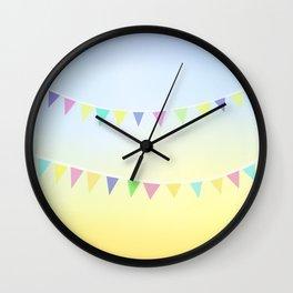 Pastel Bunting Wall Clock