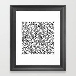 Shattered R Framed Art Print