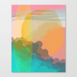 Shapes and Layers no.10 - Sun, Waves, Clouds, Sky Canvas Print