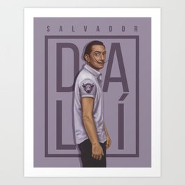 Portrait of Salvador Dalí Art Print