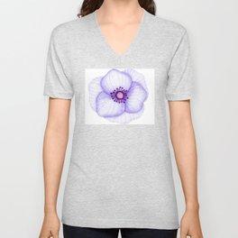 Purple Primula Flower Unisex V-Neck