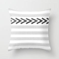 ARROW STRIPE {GRAY} Throw Pillow