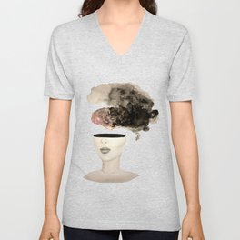 Is your brain leaking? Unisex V-Neck