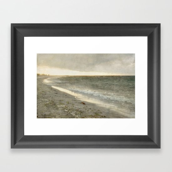 dramatic sunset Framed Art Print