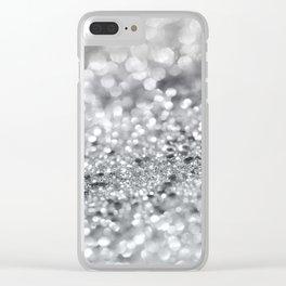 Silver Gray Lady Glitter #1 #shiny #decor #art #society6 Clear iPhone Case