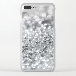 Silver Gray Lady Glitter #1 #shiny #decor #art #society6 Clear iPhone Case