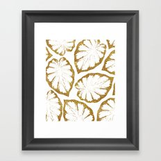 Monstera Gold #society6 #decor #buyart Framed Art Print