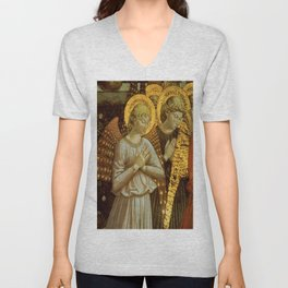 1459 Benozzo Gozoli - Angels (detail) Unisex V-Neck