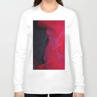 oil Long Sleeve T-shirts featuring Red oil by Margheritta