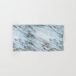 Aqua Black and White Marble Crackle Hand & Bath Towel