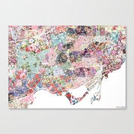 Toronto map flowers landscape Canvas Print