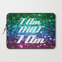 I AM THAT I AM Affirmation Galaxy Sparkle Stars Laptop Sleeve