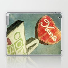 Heart's Coffee Shop Vintage Sign Laptop & iPad Skin