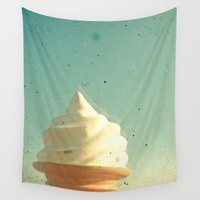 ice cream Wall Tapestries featuring Ice Cream by Cassia Beck