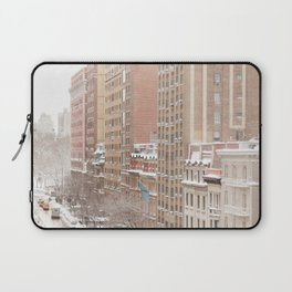 Snow Day in the Upper West Side Laptop Sleeve