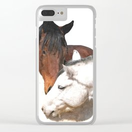 Horses in Love Clear iPhone Case