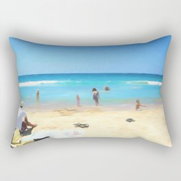 Day At The Beach Looking At The Water Rectangular Pillow