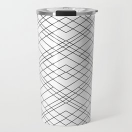 Black and White Circuit Travel Mug