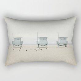 Lifeguard Towers with Birds Rectangular Pillow