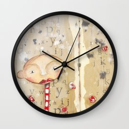 Painting the roses red - art journal Wall Clock
