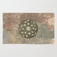 maps Area & Throw Rugs featuring maps by INEPTUNE
