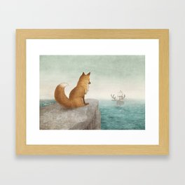 The Day the Antlered Ship Arrived Framed Art Print