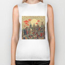 philadelphia city skyline Biker Tank