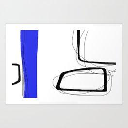 Blocks-Blue Streak  Art Print