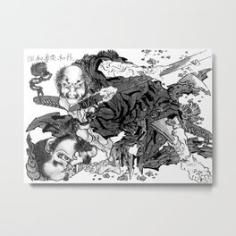 Rochishin Chopping Off the Head of Nio Metal Print