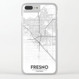 Minimal City Maps - Map Of Fresno, California, United States Clear iPhone Case